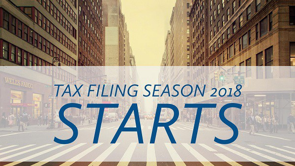 2018 Tax Filing Season Begins Jan. 29th